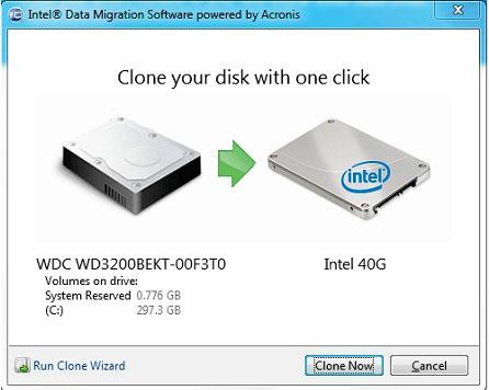 Intel HDD zu SDD Clone Freeware-Tool